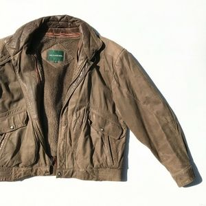 VTG Hill & Archer Leather Bomber Jacket Mens 42